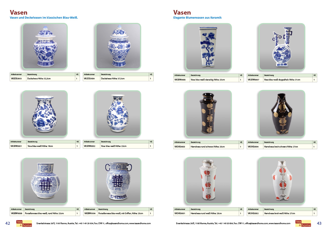 Tea and home der europ ische distributor f r tee und for Wohnaccessoires katalog